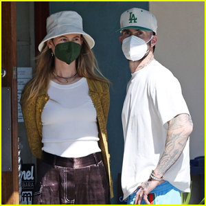 Adam Levine & Wife Behati Prinsloo Pick Up Lunch to Go in Montecito