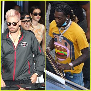 Scott Disick & Amelia Hamlin Run Into Offset While Out in Miami Beach