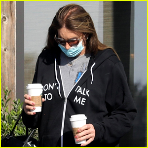 Caitlyn Jenner Wears 'Don't Talk To Me' Hoodie While Picking Up Coffee