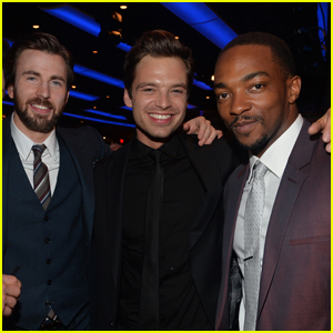Anthony Mackie & Sebastian Stan Compete to See Who Chris Evans Would Text Back First - Watch!