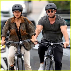 Chris Hemsworth & Elsa Pataky Couple Up for Bike Ride Around Sydney