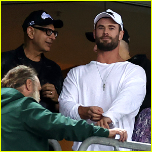 Chris Hemsworth Attends a Rugby Game with the 'Thor' Cast - See Photos!