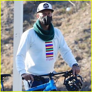 Chris Martin Kicks Off His Day on Morning Bike Ride in Malibu