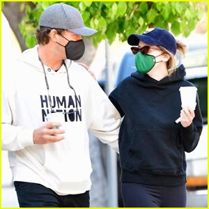 Chris Pratt & Katherine Schwarzenegger Wrap Their Arms Around Each Other on Coffee Run