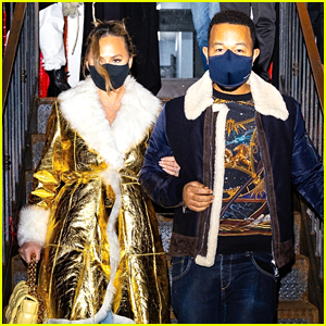 Chrissy Teigen Switches Up Her Look During Dinner With John Legend in New York City