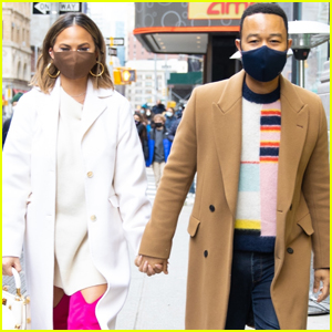 Chrissy Teigen & John Legend Hold Hands During Day Out in NYC