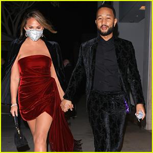 Chrissy Teigen & John Legend Celebrate His Grammy Win At An After Party in LA