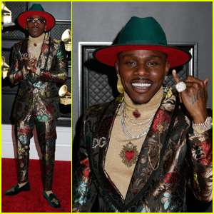DaBaby Rocks a Flashy Printed Suit For Grammys 2021