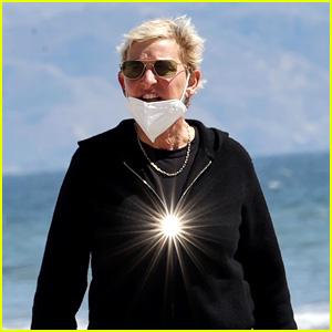 Ellen DeGeneres Takes Walk on Beach With Friend Before Portia de Rossi's Emergency Surgery