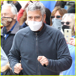 Here's What George Clooney Told Fans Watching 'Tender Bar' Filming In Boston