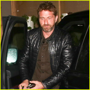 Gerard Butler Arrives at Celeb Hotspot Craig's for Dinner with Friends