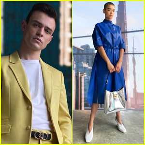 'Gossip Girl' Revival Stars Thomas Doherty & Jordan Alexander Take Part in Ferragamo's Virtual Fashion Show