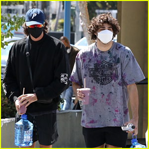 Jacob Elordi & Noah Centineo Meet Up for a Workout in L.A.