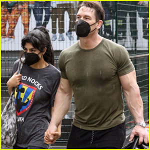 John Cena Shows Off His Muscles While Leaving the Gym with Wife Shay Shariatzadeh