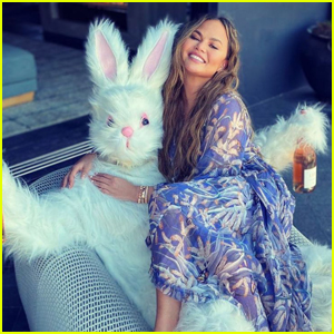 John Legend Wears a Bunny Suit for Early Easter Celebration with Chrissy Teigen & Their Kids!