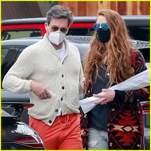 Jon Hamm Wears Bright Orange Shorts While Running Errands With Girlfriend Anna Osceola