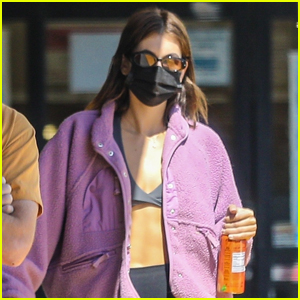 Kaia Gerber Shows Off Toned Tummy During Coffee Outing