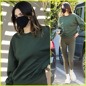 Kendall Jenner Goes Sporty While Grabbing Coffee with Friends