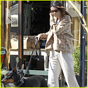 Kendall Jenner & Pooch Pyro Grab Lunch Together Ahead Of The Weekend