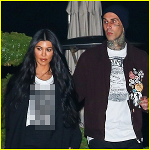 Kourtney Kardashian Wears a NSFW Shirt for Date Night with Travis Barker