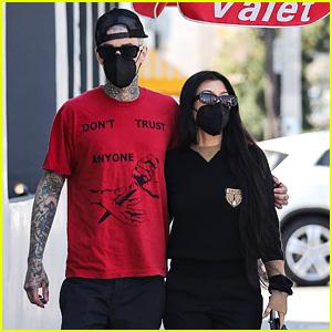 Kourtney Kardashian & Travis Barker Enjoy Time Together While Out To Lunch in LA