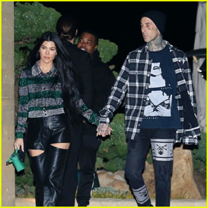 Kourtney Kardashian & Travis Barker Hold Hands on Second Date Night at Nobu in a Row