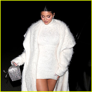 Kylie Jenner Wears All-White Outfit for Night Out with Pia Mia