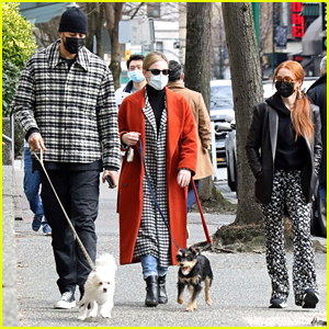Lili Reinhart Joins Madelaine Petsch & Miles Chamley-Watson For Dog Walk In Canada