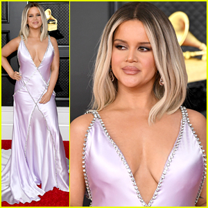 Maren Morris Steps Out In A Gorgeous Baby Pink Gown For Grammys 2021