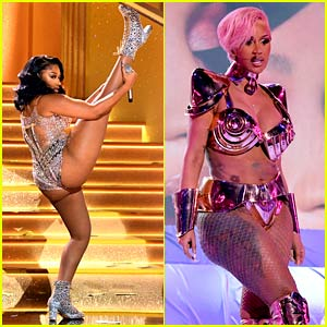 Megan Thee Stallion & Cardi B Had the Most Epic Grammys Performance, Ending with 'Wap' Live for First Time!