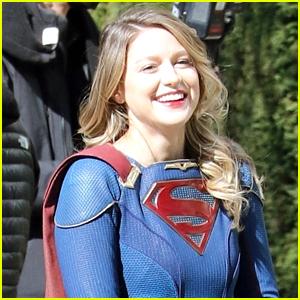 Melissa Benoist Shows Off Her Smile On 'Supergirl' Set Ahead of Final Season Premiere