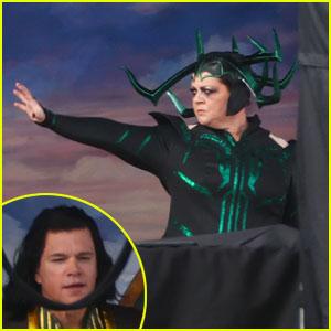 Melissa McCarthy's 'Thor: Love & Thunder' Character Revealed in Set Photos Alongside Matt Damon (Spoilers!)