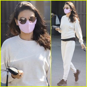 Mila Kunis Goes Comfy in Sweats for Morning Skin Care Appointment
