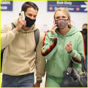 Miranda Lambert & Husband Brendan McLoughlin Arrive Together in LA