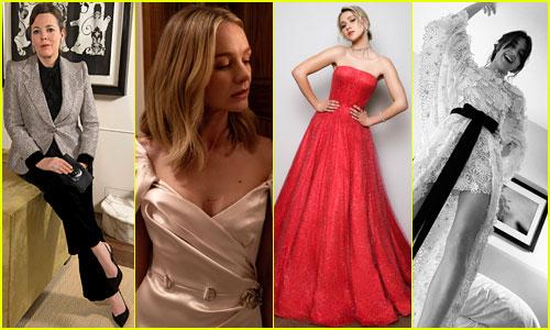 Olivia Colman, Carey Mulligan, Daisy Edgar Jones & More Show Off Golden Globes 2021 Looks for Virtual Appearances