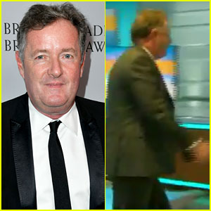 Piers Morgan Storms Off Live TV After Being Called Out for Meghan Markle & Prince Harry Comments (Video)