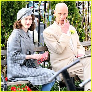 Rachel Brosnahan Cracks Up With John Waters On 'Marvelous Mrs. Maisel' Set