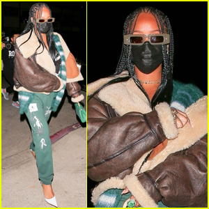 Rihanna Sports Sweatpants & Heels for Another Night Out in Santa Monica