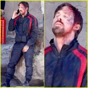 Ryan Gosling Looks Beaten Up & Bloody on 'Gray Man' Set