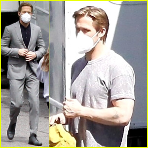 Ryan Gosling Suits Up in Gray on 'The Gray Man' Set - New Photos!