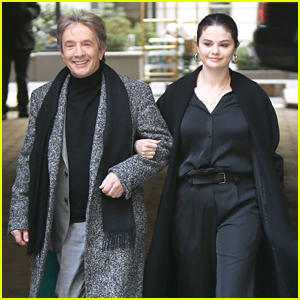 Selena Gomez Makes Fashionable Arrival On 'Only Murders In The Building' Set With Martin Short