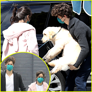 Camila Cabello & Shawn Mendes Run Errands With Their Cute Puppy in LA
