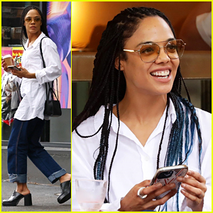 Tessa Thompson Enjoys A Day Off In Sydney As Brie Larson Hints They're Working On A Mystery Project Together