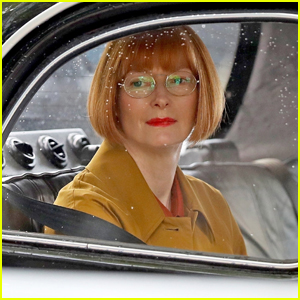 Tilda Swinton Films Scenes in a Vintage Taxi for 'Three Thousand Years of Longing' in Australia