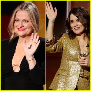 Here's Why Amy Poehler & Tina Fey Had Symbols on Their Hands During the Golden Globes