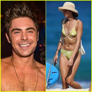 Zac Efron's Girlfriend Vanessa Valladares Spotted During a Beach Day in Australia