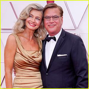 Aaron Sorkin & Model Paulina Porizkova Made Their Red Carpet Debut at the Oscars!