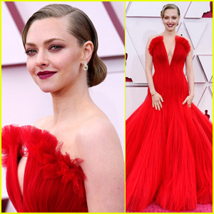Amanda Seyfried Wears a Ravishing Red Gown to Oscars 2021