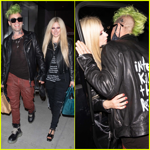 Avril Lavigne & Mod Sun Lock Lips While Out in Beverly Hills