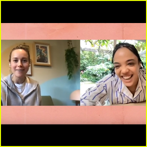 Brie Larson Teaches Tessa Thompson How to Play Fortnite - Watch!